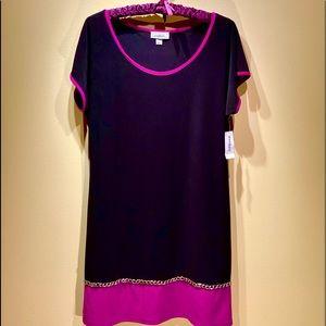 NWT Dress Barn Short Sleeve Round Neck Dress L